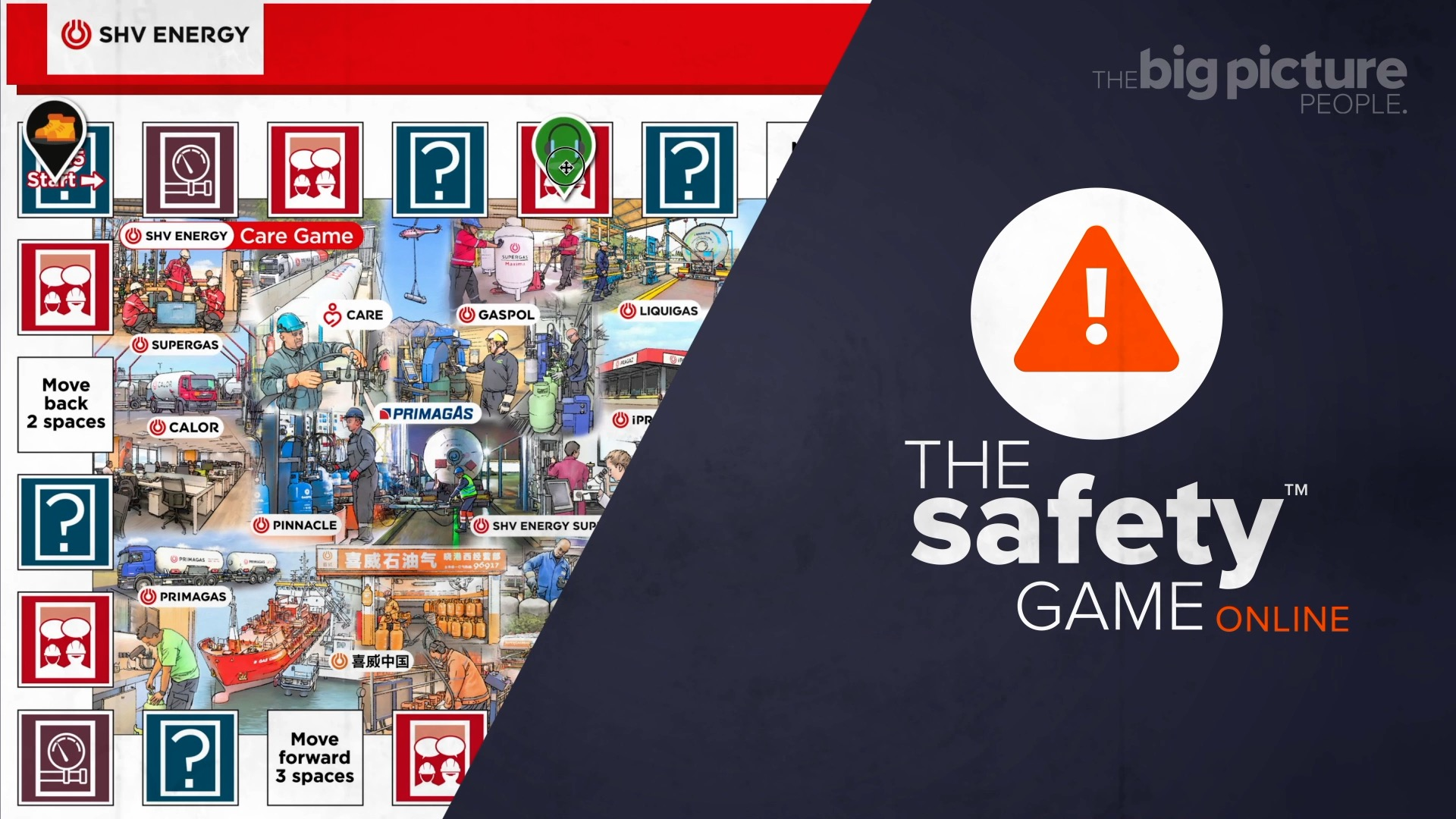Gamification of health and seafety - the safety game online board game like monopoly but for safety