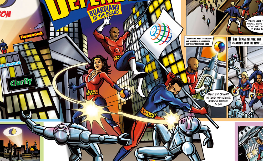 does gamification work for everyone PepsiCo-Comic - comic book characters flying through the sky
